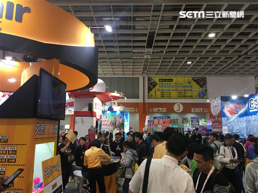 2018ITF台北國際旅展,開幕,民眾,搶購,人潮,/記者蕭筠攝影