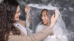 湖北,婚紗照,彌補,感動,驚喜(圖/翻攝自十堰晚報))