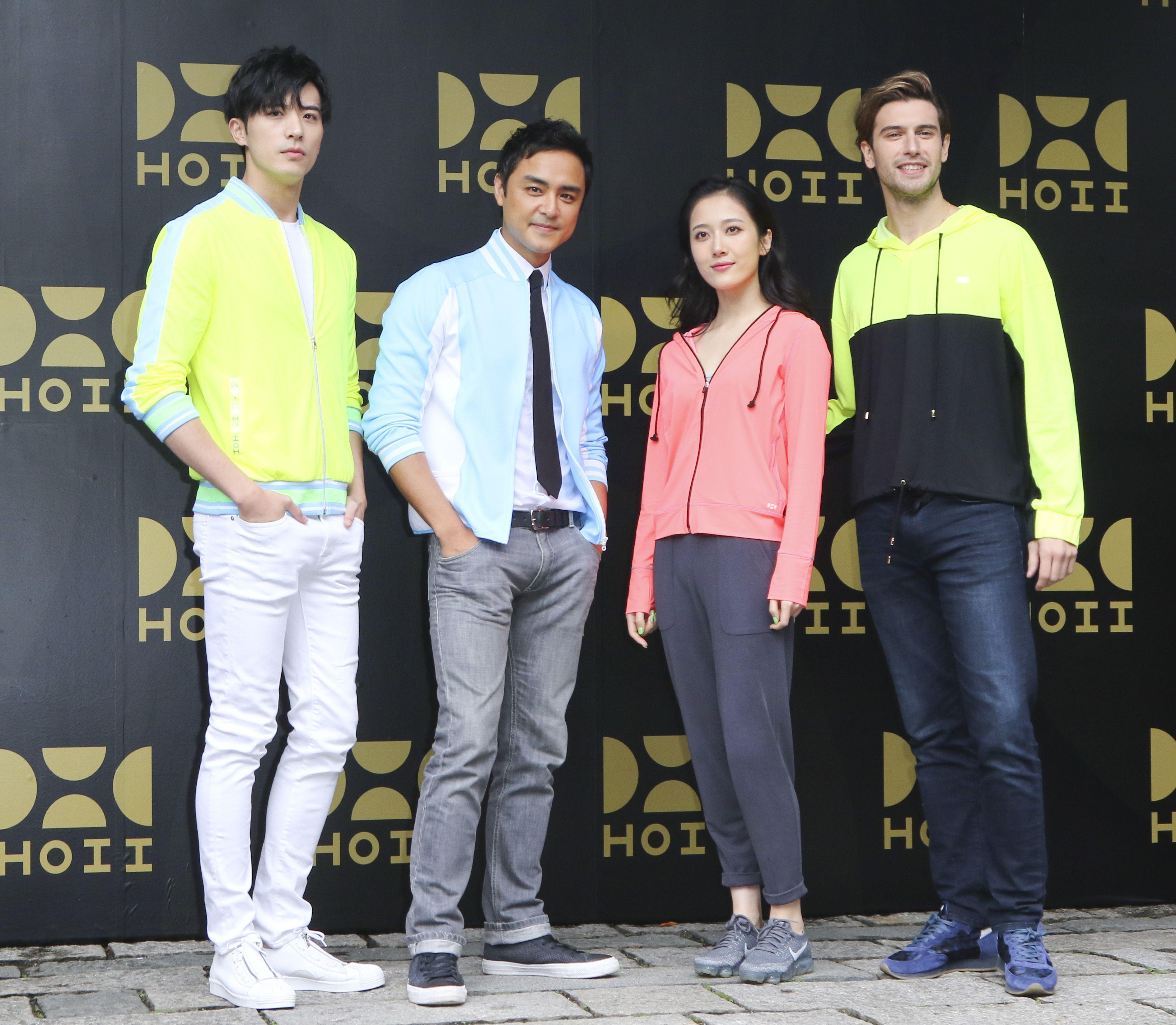 明道、徐開騁、楊欣穎、馬賽羅歐根參加防曬品牌發表會。(記者林士傑/攝影)