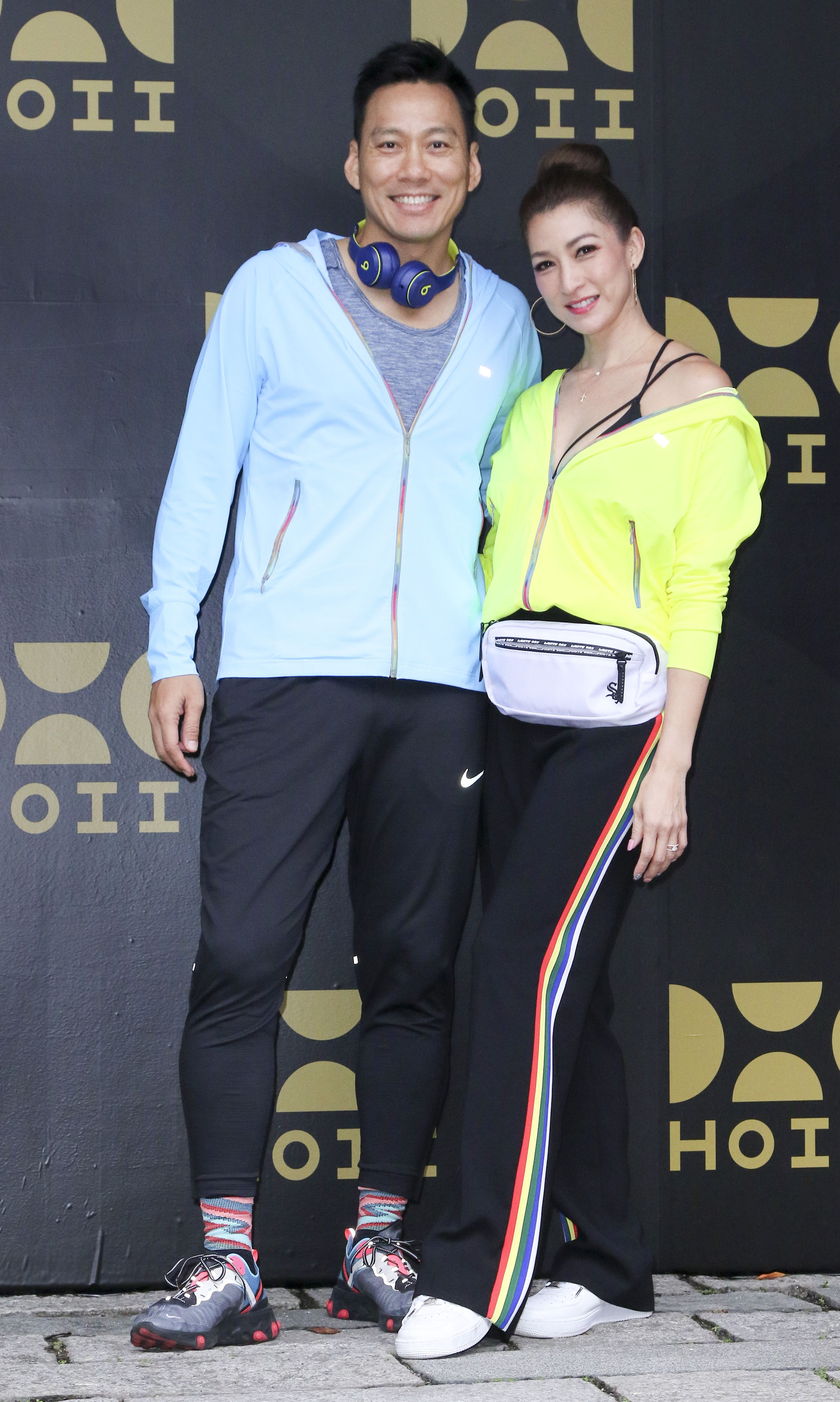 艾力克斯與李詠嫻參加防曬品牌發表會。(記者林士傑/攝影)