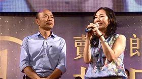 韓國瑜與太太李佳芬上台都哭了(韓國瑜/翻攝自韓國餘臉書)