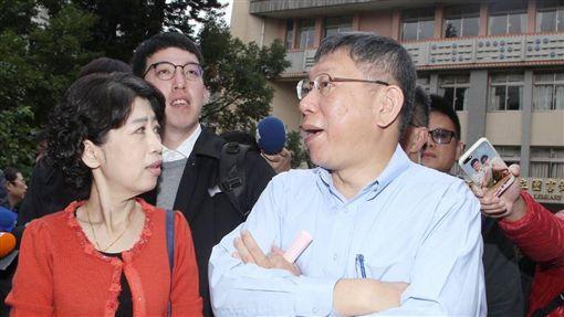 柯文哲,九合一選舉,選舉,投票,陳佩琪(圖/記者邱榮吉攝)