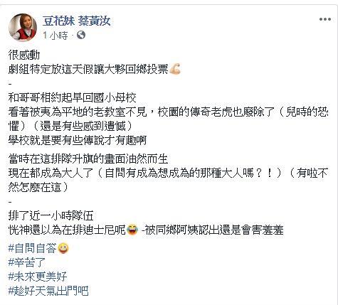 豆花妹,投票,公投,迪士尼/翻攝自豆花妹臉書