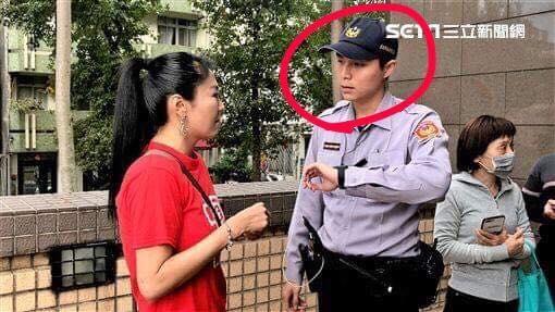 劉樂妍遭警方口頭警告不得再犯,當場嚇傻。(圖/記者蔡世偉攝影)