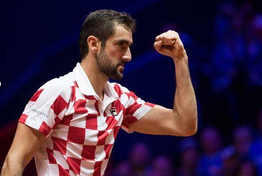 西利奇為克羅西亞拿下第2分。(圖/翻攝自Davis Cup 官網)