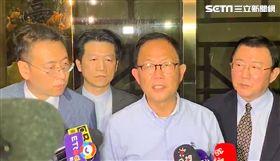 丁守中,場外抗議,台北地方法院,按鈴,警察。(記者/呂品逸攝影)