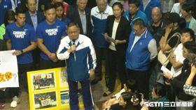 ▲蔡辰威力挺運動員,支持中華奧會主席林鴻道。(圖/記者林辰彥攝影)