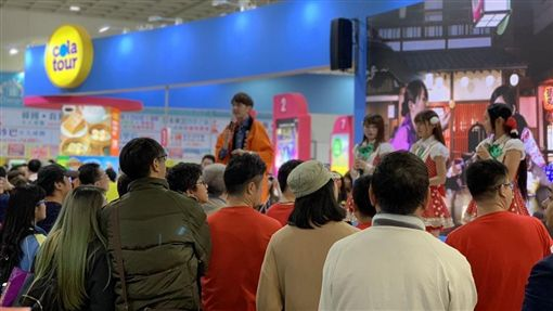 2018ITF台北國際旅展,旅行社,選舉,/記者馮珮汶攝影