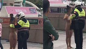 全裸,女子,鬧區,台北,翻攝畫面