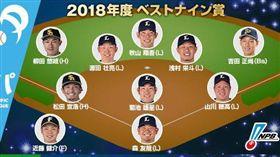 日本職棒最佳九人公布。(圖/翻攝自NPB官網)