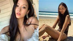 她不僅熱愛澳洲陽光,酷愛在海灘曬泳裝辣照。(圖/翻攝自孫芸芸IG)