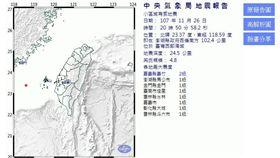 20:50芮氏規模4.8地震 嘉義義竹最大震度2級