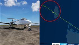 飛機,睡著,過站,澳洲,偏離,航道,飛行,機師,駕駛, 圖/翻攝自FlightAware、Vortex Air官網