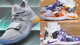 ▲NBA球鞋配色解禁後,PS遊戲機、火影忍者都登上球鞋。(圖/Nike提供/翻攝自推特)
