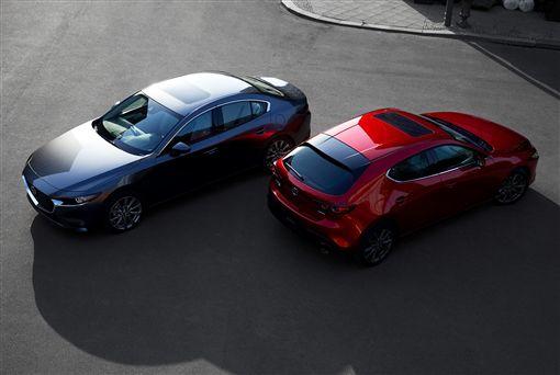 2019年大改款Mazda 3。(圖/翻攝網站)