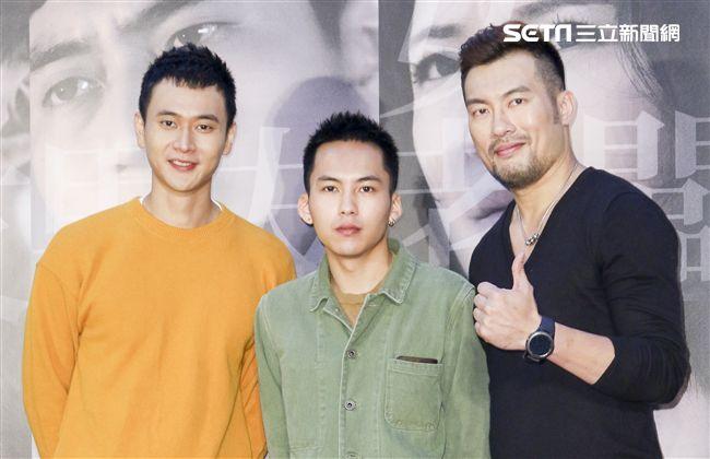 「小美」記者會男主角劉冠廷、巫建和、邱隆杰。(記者林士傑/攝影)