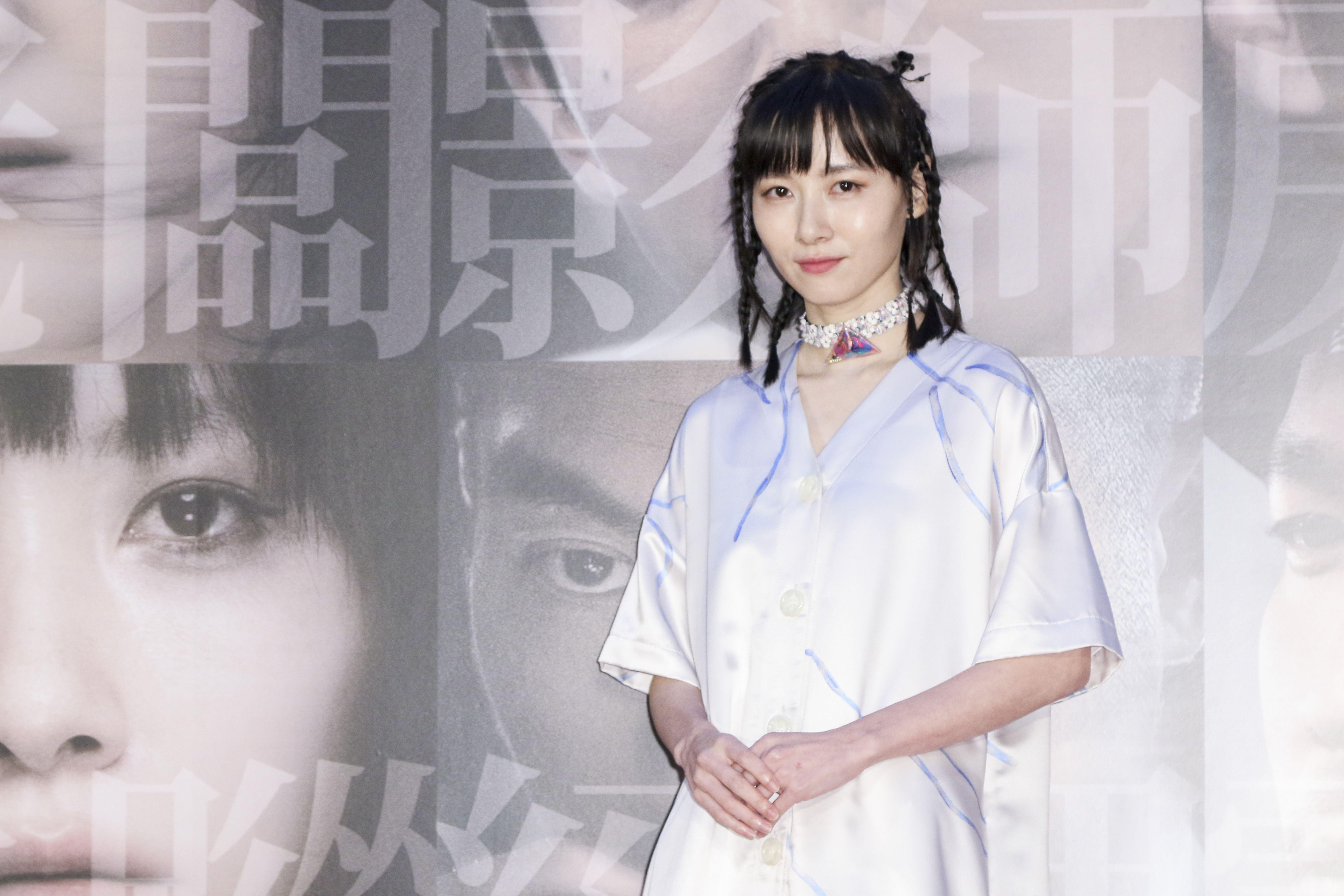 「小美」記者會女主角饒星星。(記者林士傑/攝影)