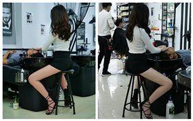 越南,美髮店女設計師,正妹(圖/翻攝自Nguyen Tra My臉書)