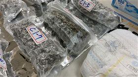 台北,大麻,刑事局,小熊維尼,尿布,進口。呂品逸攝