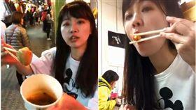 謝票吃遍市場 高嘉瑜「大口吃肉圓」!嬌喊:不變胖才有鬼 圖/翻攝自高嘉瑜臉書