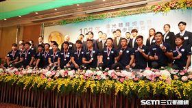 亞運金牌選手齊聚一堂。(圖/記者劉忠杰攝影)