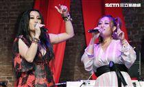 「愛之日常音樂節」歌手紀曉君、家家出席演唱。(記者林士傑/攝影)