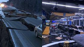 地震,海嘯,美國,阿拉斯加,建築,道路,搖晃,崩裂 圖/翻攝自推特