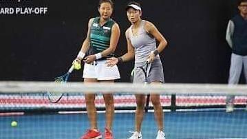 張凱貞與徐竫雯奪下2019澳網女雙會內賽門票。(圖/張凱貞提供)