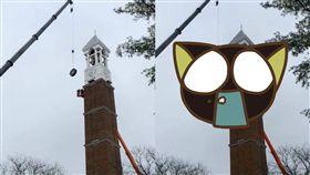 墜落,鐘樓,高塔,時鐘,翻修,Purdue University,維修,工安,意外 圖/翻攝自YouTube