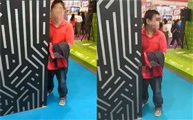台北,資訊展,打手槍,DIY, Show Girl,紅衣男(圖/翻攝自陳奐冰臉書)