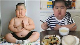 5歲童腎病腫如坐佛!直播吃飯賺自己醫藥費(圖/馬來西亞《中國報》)