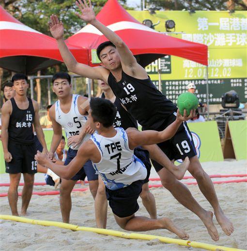 台灣發展沙灘手球僅10年,卻在國際賽中屢創佳績。(圖/大會提供)