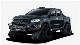 Mercedes-Benz X-Class履帶車。(圖/翻攝網站)