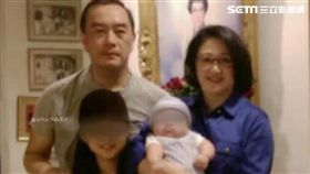 嚴凱泰、陳莉蓮與女兒Michelle、小兒子John