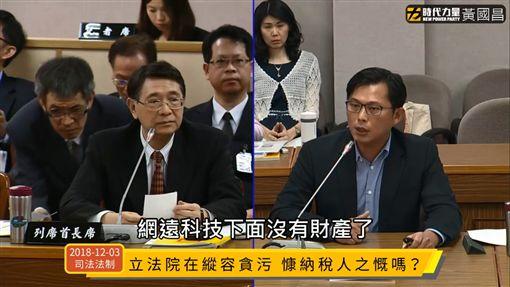 黃國昌質詢林志嘉(圖/擷取自臉書)