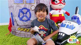 (圖/翻攝自Ryan ToysReview YouTube)YouTuber,富豪,男童,玩具,開箱