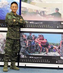 海軍陸戰隊兩棲偵搜大隊一兵林振揚。(記者邱榮吉/攝影)