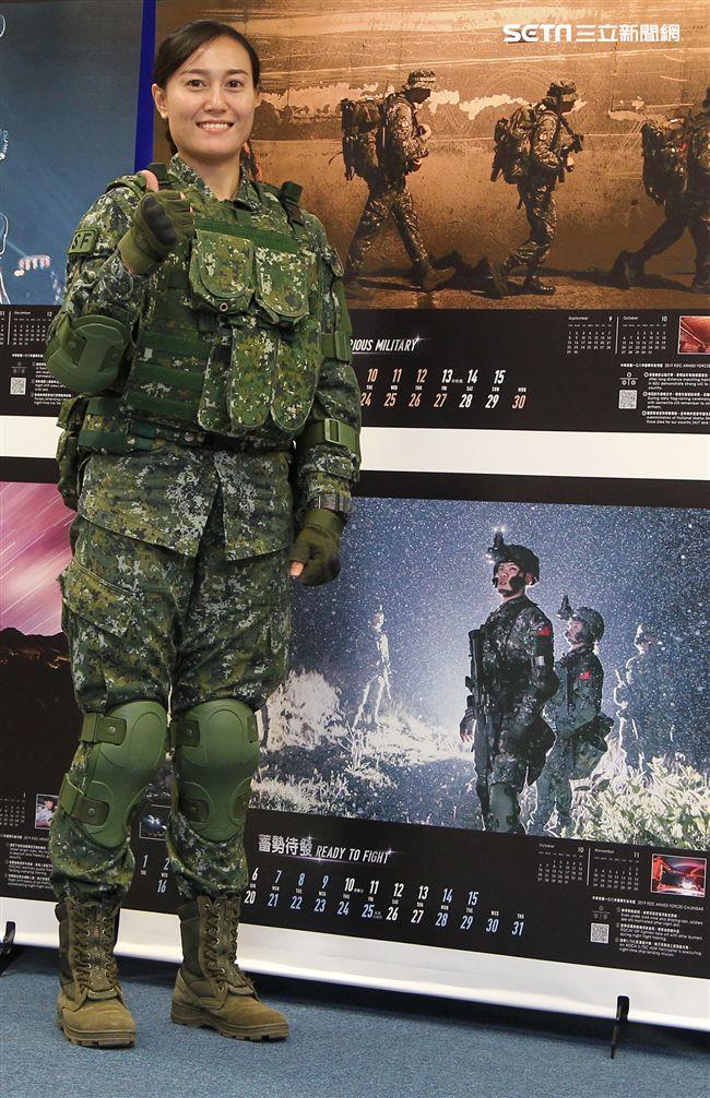陸軍特指部特一營林薇中尉。。(記者邱榮吉/攝影)