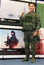 陸軍二支部一兵林顥。(記者邱榮吉/攝影)