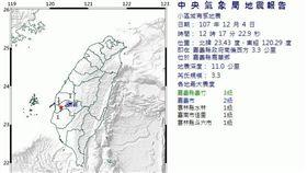 12/4 12:17嘉義地震