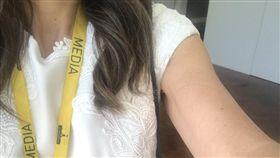 澳洲,國會,女記者,無袖,手臂(圖/翻攝自推特)