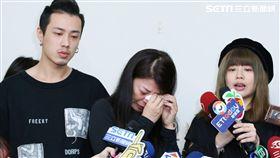 安迪病逝後,妻子阿娥、女兒林吟蔚、兒子林志融首度露面/記者林士傑攝影