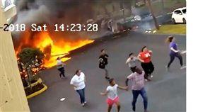 美國,飛機,墜毀,爆炸(翻攝自boroparkhocker Twitter)