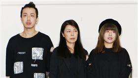 安迪遺孀阿娥、林吟蔚、林志融(阿夜) 圖/記者林士傑攝影