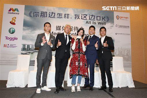 藍正龍、劉冠廷、陳泂江拍攝王小棣新戲《你那邊怎樣/我這邊OK》 圖/拙八郎提供