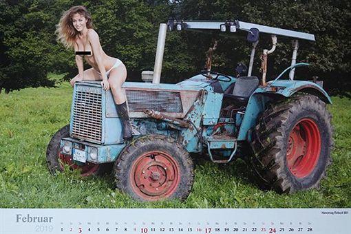 農田,女農夫,裸體,月曆,Frank Lutzeback