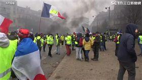 法國黃背心示威遊行/翻攝AP影音