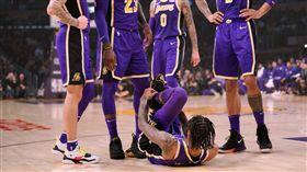 馬刺球星埋地雷 湖人榜眼踝扭傷退場 NBA,洛杉磯湖人,Brandon Ingram 翻攝自推特