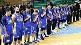 SBL例行賽6日賽前舉行簡短默哀儀式(圖/記者劉家維攝影)