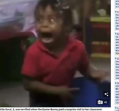女童被嚇到臉變形成網紅蘿莉 媽媽怒告托兒所(圖/每日郵報)